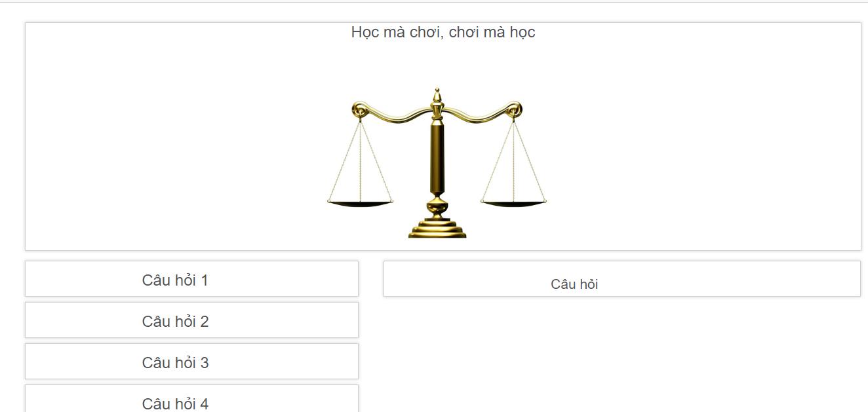 Trò chơi tìm hiểu pháp luật đơn giản bằng PHP và MySQL